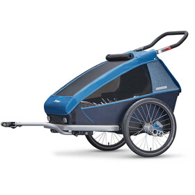Croozer Kid Plus for 2 - Remorque vélo - gris/bleu